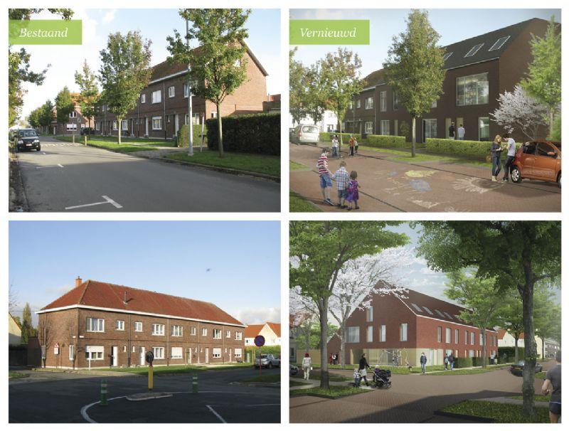 Vernieuwing van de huizen in wijk Pollare.
