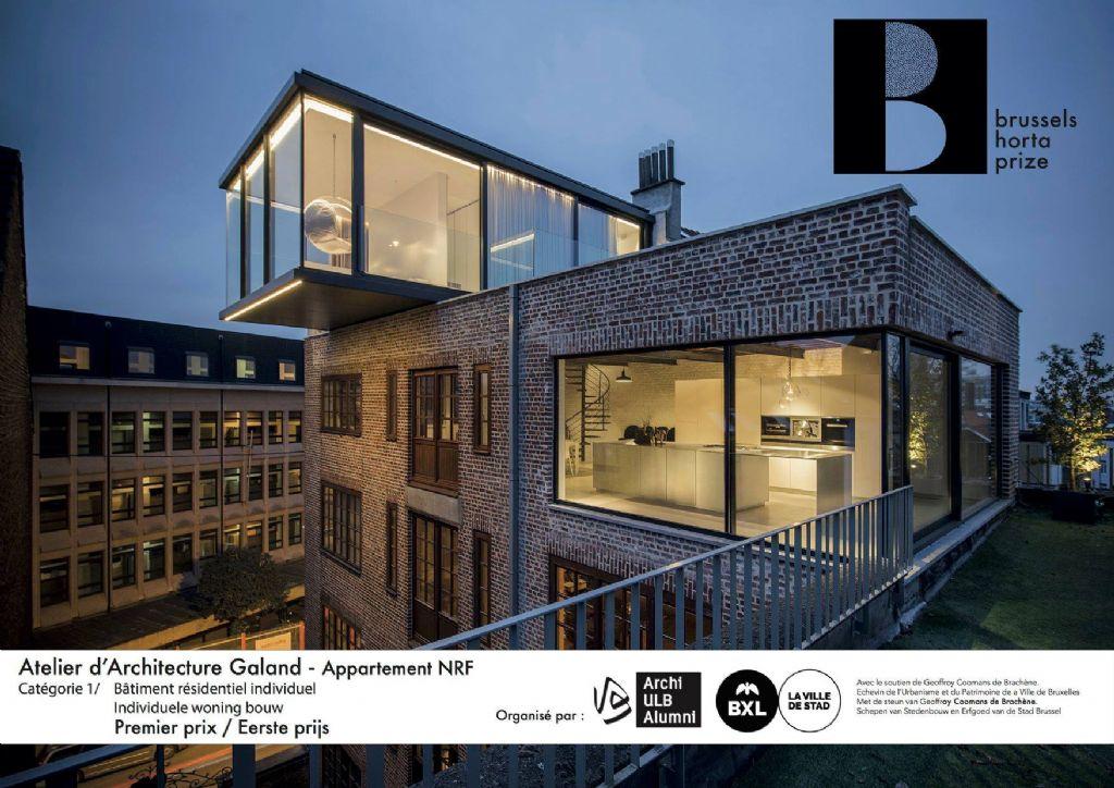 """Lauréat dans la catégorie """"Résidentiel individuel"""" : Atelier d'Architecture Galand avec son projet """"Appartement NRF"""""""