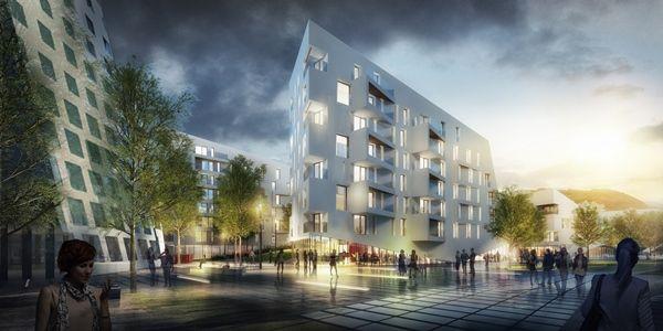 Paradis Express à Liège, nominé dans la catégorie « Best Futura Project » (association A2M – Jaspers-Eyers Architects - BAG)