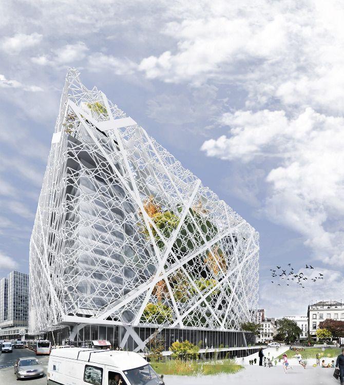 Het ontwerp voor Brussels Culture City Lab van BC Architects & Studies.