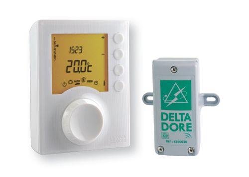 De Delta Dore Tybox 327, hier afgebeeld, beschikt over een buitenvoeler.
