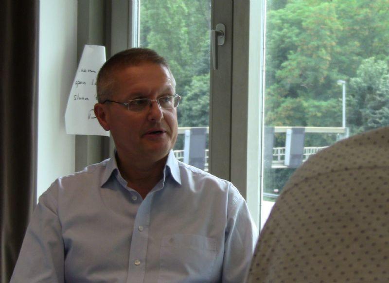 """Luc Verbeeck: """"Veel echte vakmensen worden nu aan de kant gezet en vervangen door goedkopere werkkrachten aan wie ik zelf metselverbanden en knipvoegen moet uitleggen."""""""