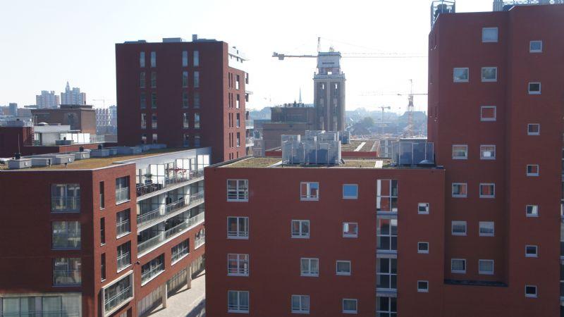 De noordkant van de Leuvense vaartkom
