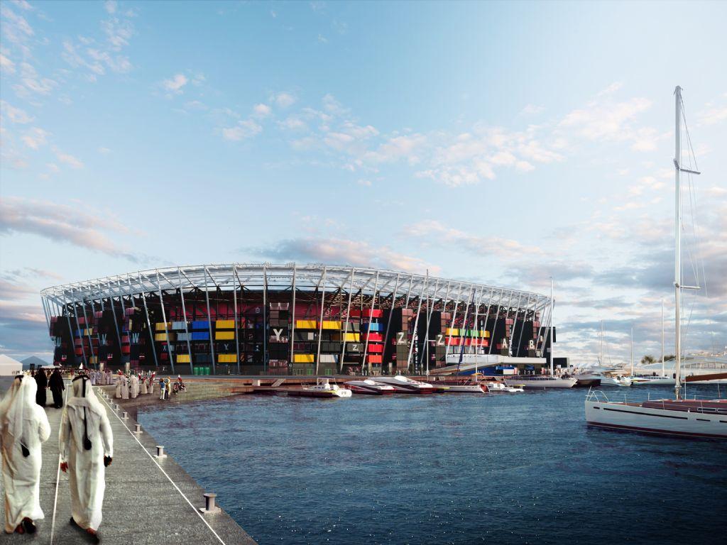 Ras Abu Aboud Stadium, Artist Impression by Fenwick Ibarren Architects