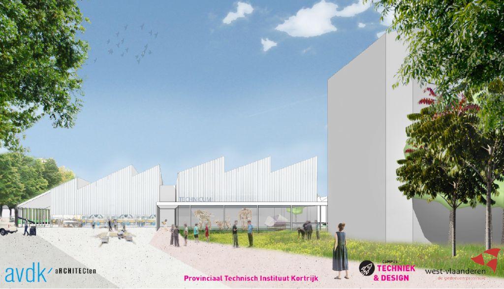 AVDK aRCHITECTEN ontwerpt Technicum-gebouw voor secundair onderwijs in Kortrijk