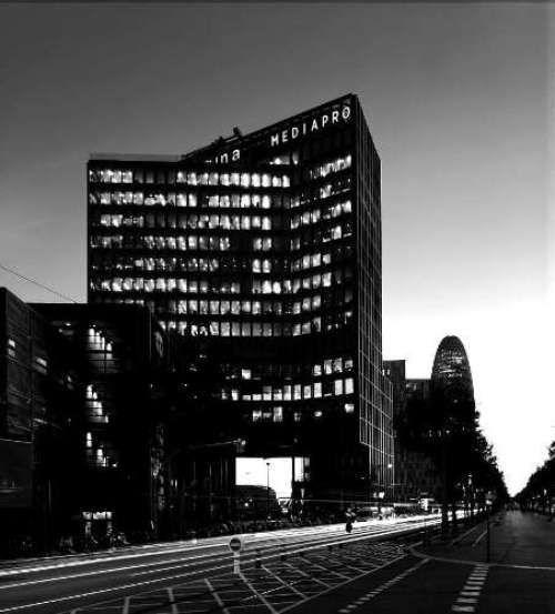 Het hoofdkwartier van Mediapro in Barcelona.