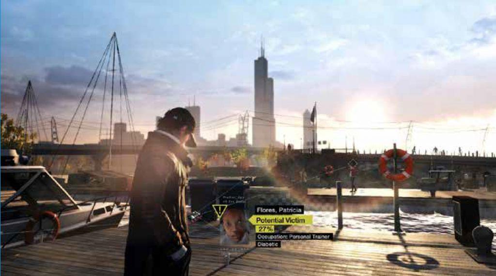 La Ville à la première personne (jeu : Watch Dogs).