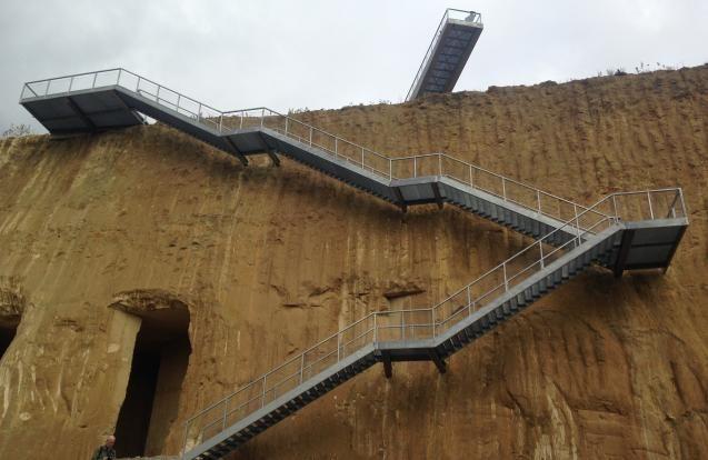 Trappartij met uitzichtplatform ENCI-groeve