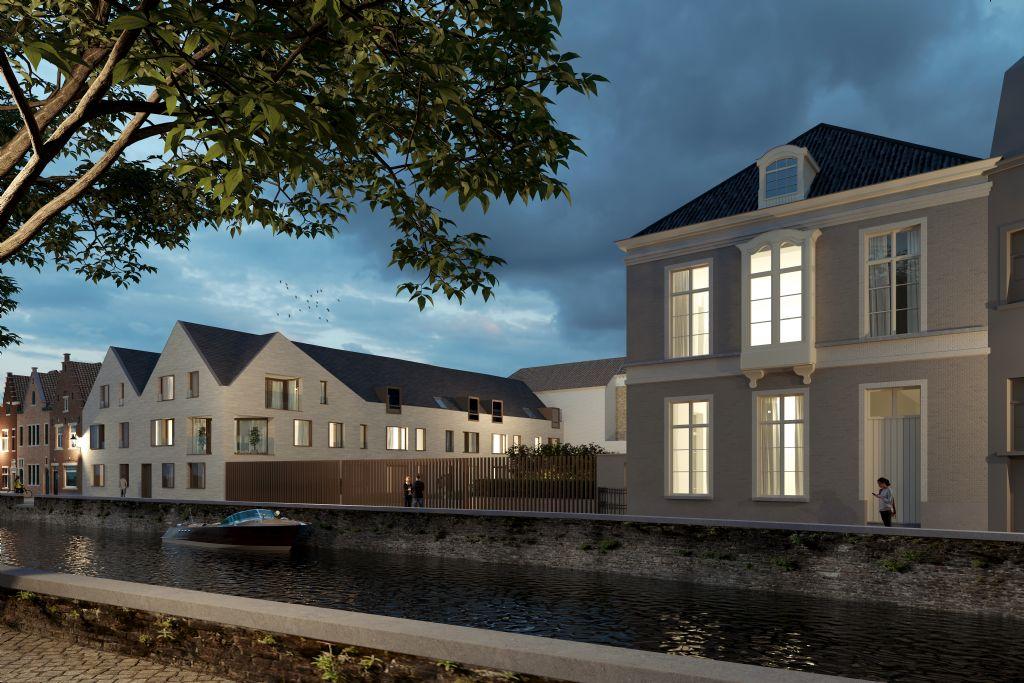 Het project is idyllisch gelegen, langs de Coupure.
