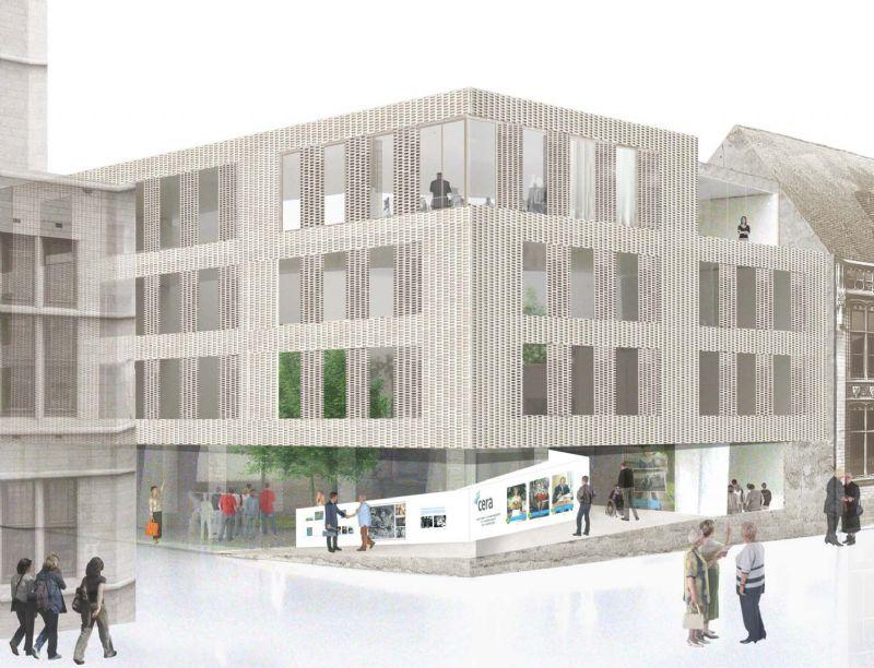 CERA bouwt nieuwe hoofdzetel in historische gebouwen Muntstraat Leuven