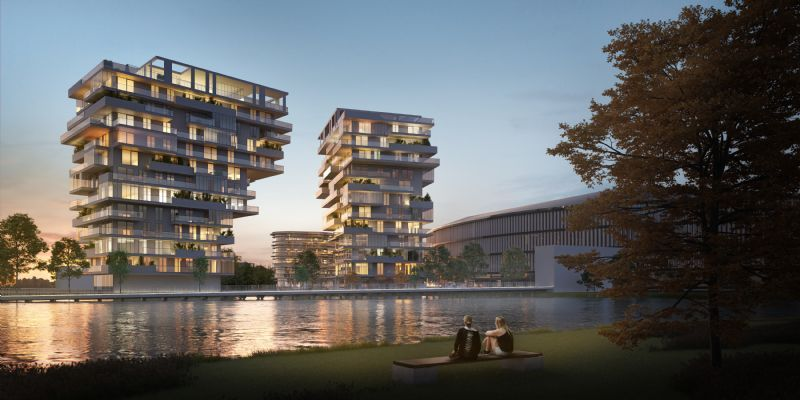 Het project Waterfront in Waregem won een BIM Award.