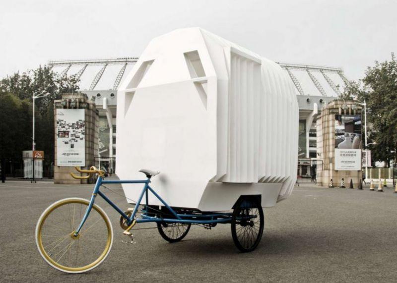 Chinese architecten ontwikkelen een huis(je) op wielen