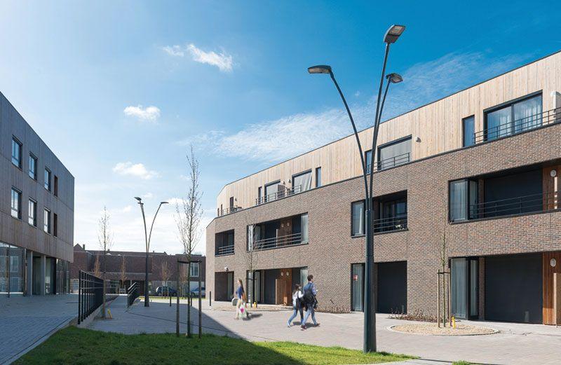 Ledverlichting in nieuwe woonwijk Houthalen-Helchteren combineert esthetiek met efficiëntie