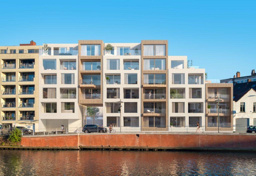 Link Lab en Markland verfraaien Handelskaai in Kortrijk met nieuw woonproject Kaskade