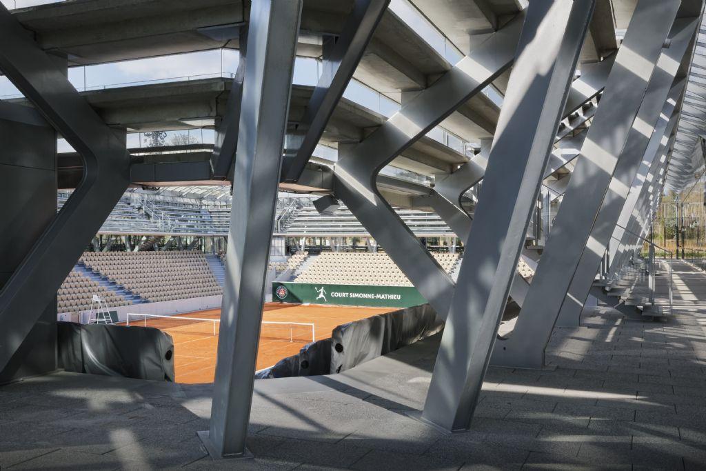 Roland-Garros : un nouveau court, intégré dans un jardin de serres