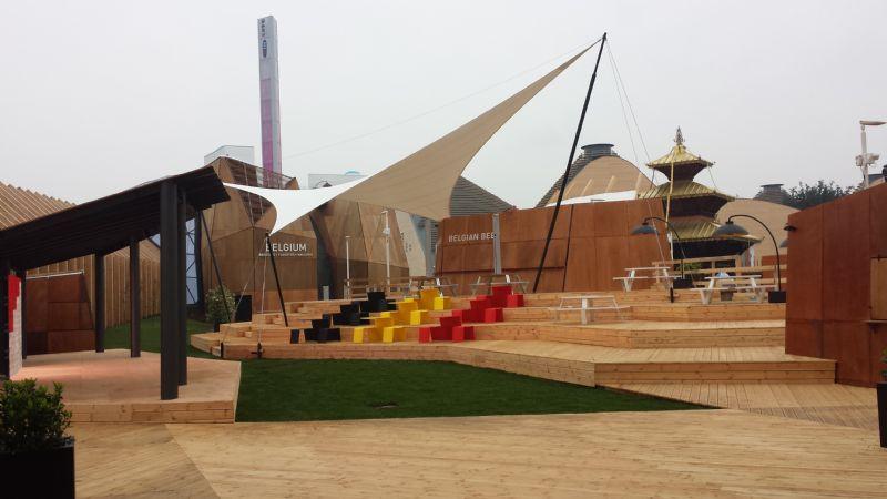 Naast het centrale thema van de tentoonstelling staan in het Belgisch paviljoen ook de thema's duurzame constructie, technologische innovatie en de Belgische identiteit in de kijker.