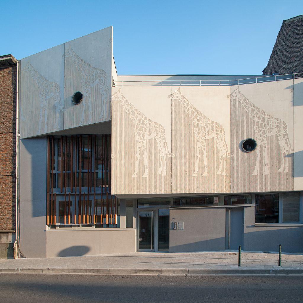 Wittouck van Pierre Blondel Architectes: een passieve crèche voor actieve kinderen