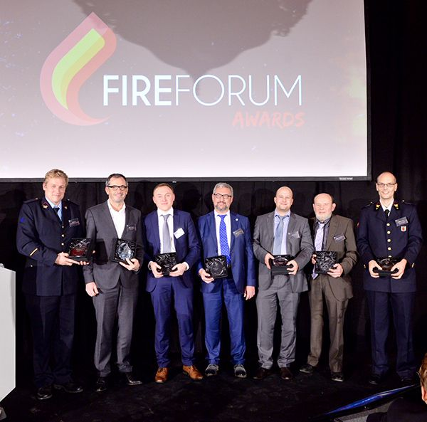 De laureaten van van Fireforum Awards 2015.