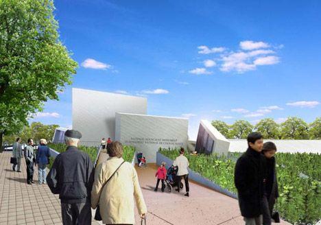 """Het monument moet """"mensen aanmoedigen om te reflecteren over de Holocaust"""", zegt Canadees minister van Buitenlandse zaken John Baird."""