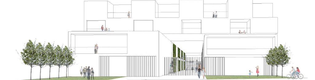 Inbreiding bij meergezinswoningen -  goedefroo+goedefroo architecten