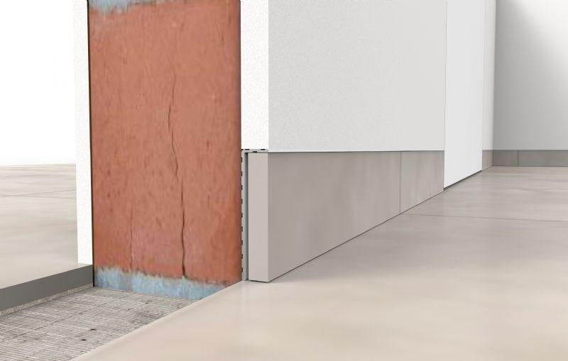 Doorsnede onzichtbare plint