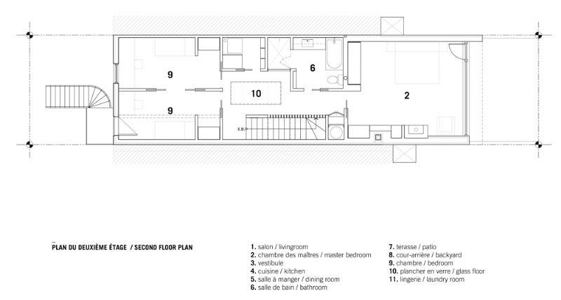 Het grondplan - de eerste verdieping.