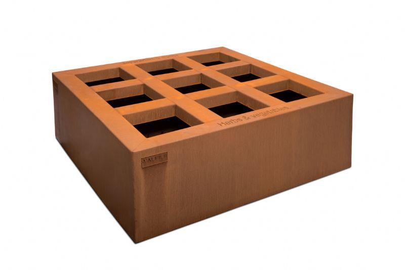 Kies uit rechthoekige of vierkante, hoge of lage moestuinbakken met of zonder wieltjes.