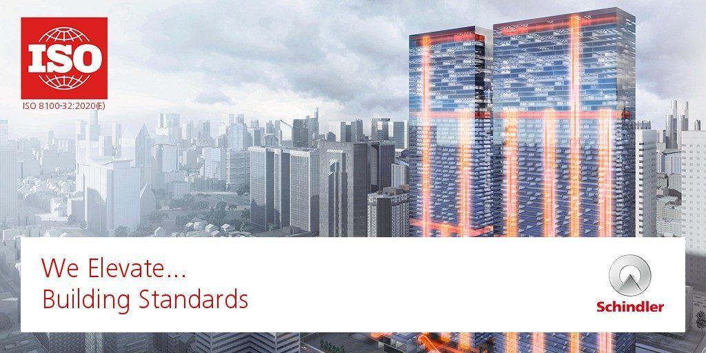 Schindler belangrijke speler bij opstelling nieuwe ISO-norm voor planning en selectie van liften