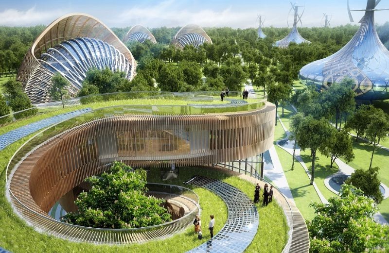 Positieve energieresidenties, Kunming (China).