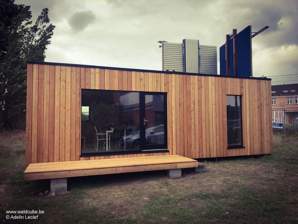 Le module de 25 mètres carrés développé pour l'asbl Infirmiers de rue dans le cadre du projet 400toits