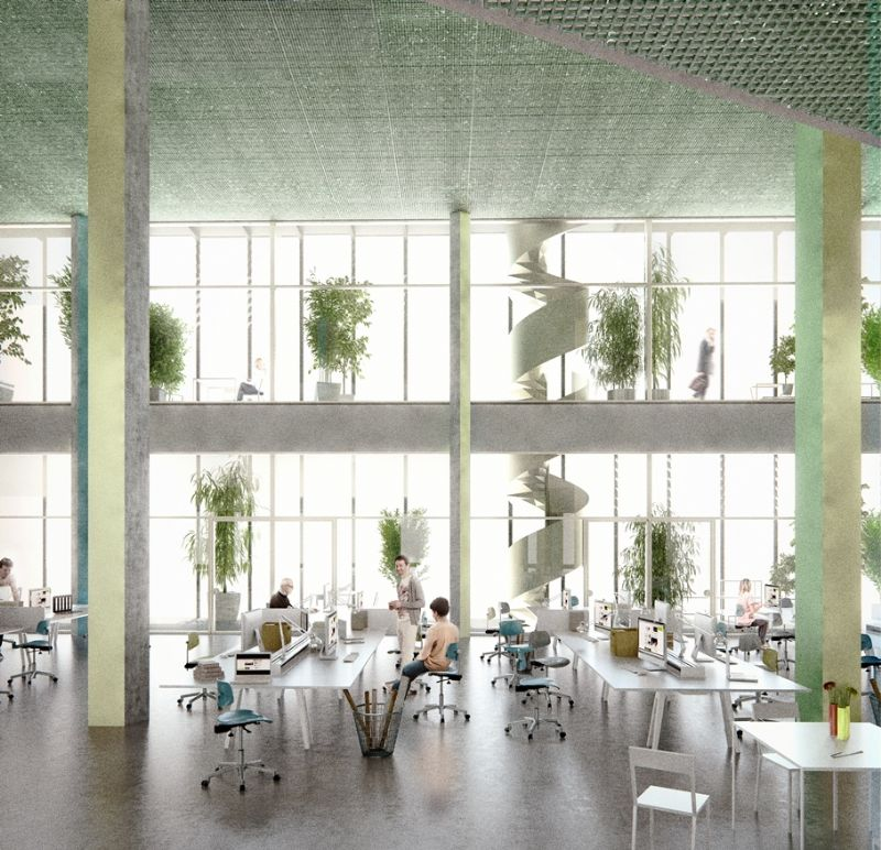 Hoe het nieuwe gebouw er aan de binnenkant zal uitzien.