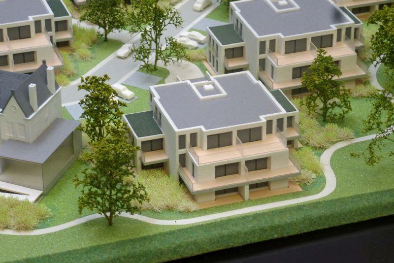 3D-print van Villa Emma Adinkerke. Schaal 1 op 150.