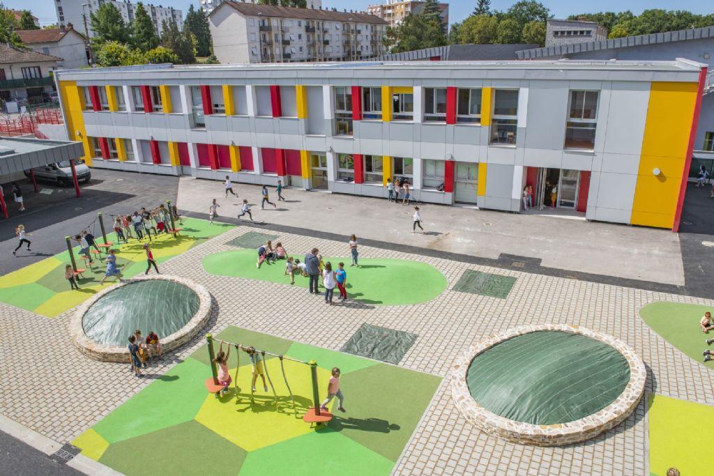 A Limoges, le groupe scolaire Condorcet Roussillon rénové se pare de façades ludiques et pérennes