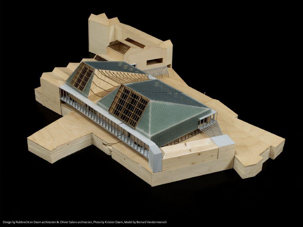 Ontwerp: Robbrecht en Daem architecten en Olivier Salens architecten. Maquette: Bernard Vandermeersch