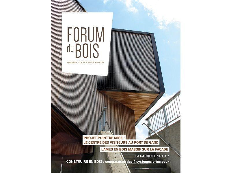 Nouveau magazine 'Forum du bois' pour informer et inspirer l'architecte