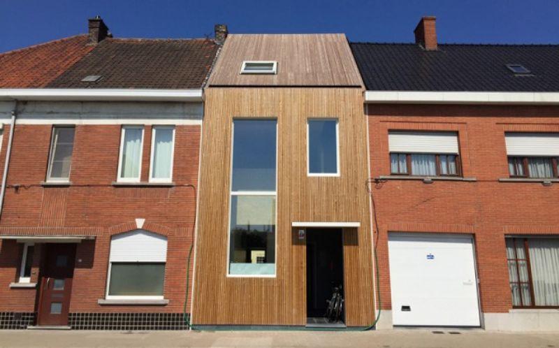 De nieuwe passieve rijwoning in hout van de firma De Noordboom.