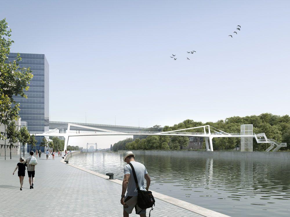 Ney & Partners optimaliseert referentieontwerp voetgangersbrug Vilvoorde