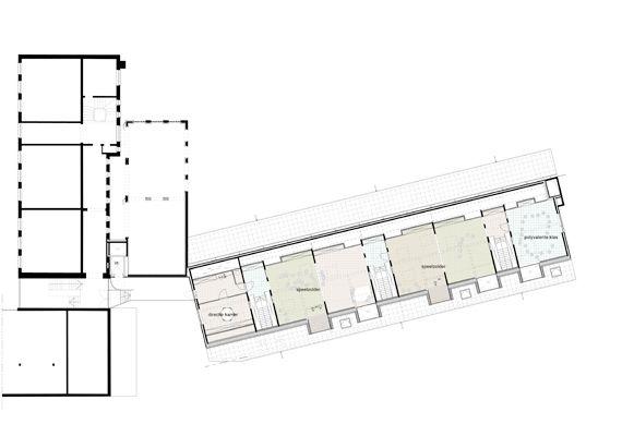De plattegrond van de zolderverdieping.