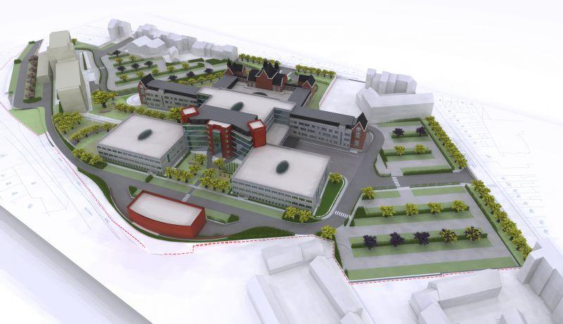 En plein centre de Liège, l'Hôpital du Valdor renaît par son architecture (Alain Dirix)