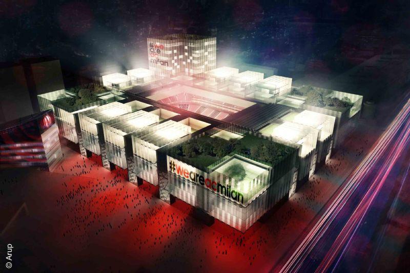 Het nieuwe stadium van A.C. Milaan