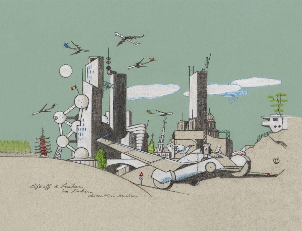 Tekeningen van Brusselse architecturale parels door illustrator Ever Meulen te bewonderen in MAD Brussels