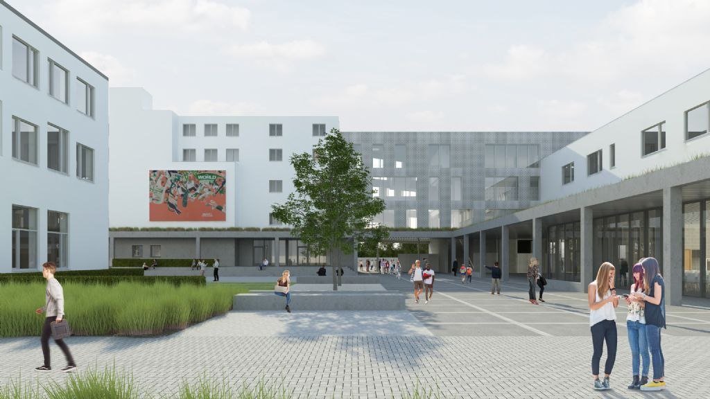 dbv architecten hertekent Campus Neerpelt van Limburgse scholengroep WICO