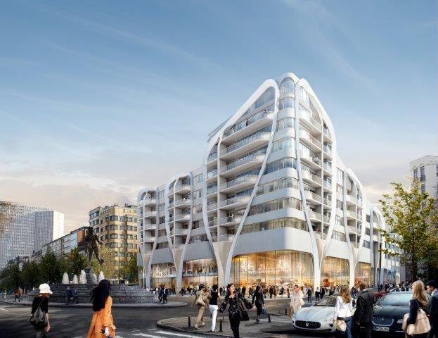Toison d'Or biedt plaats aan ongeveer 13.000 m² commerciële ruimte en 14.000 m² hoogwaardige woon- en leefruimte, goed voor 84 appartementen (waaronder enkele met een specifieke bestemming) en een crèche voor 78 kinderen.