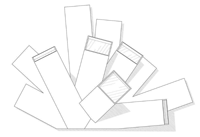 Bovenaanzicht containercluster
