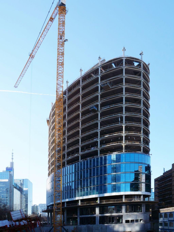 Möbius Tower à Bruxelles (Assar Architects), vainqueur de la catégorie Outstanding Precast in Flexibility.