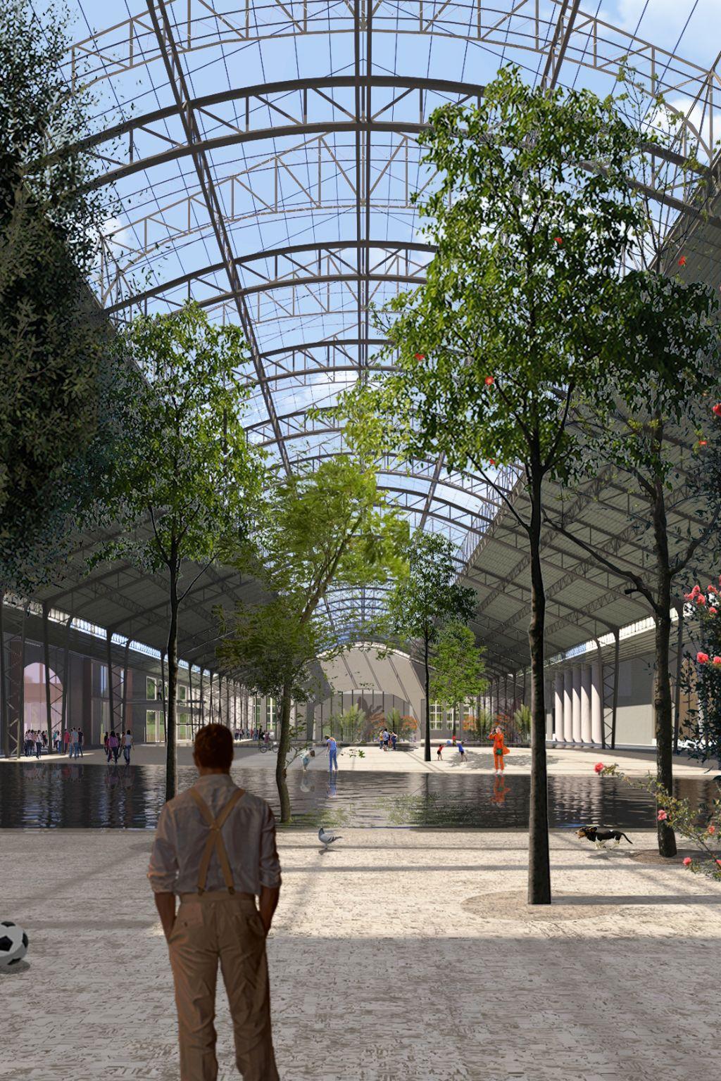 Een mogelijk toekomstbeeld voor de Floraliënhal