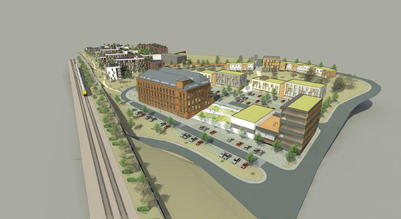 A proximité du centre de Tubize, le site Mondi accueillera prochainement un éco-quartier de plus de 200 logements très basse-énergie. La présence d'une halle à papier (et sa reconversion en loft) est le trait d'union avec le passé industriel de la région.