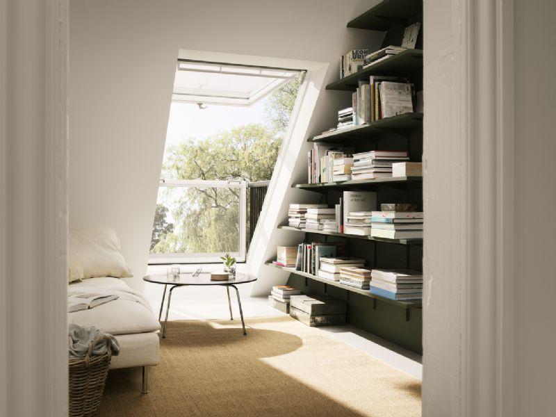 Het venstersysteem zorgt ervoor dat zolders, dakappartementen, penthouses maximaal genieten van natuurlijk licht.