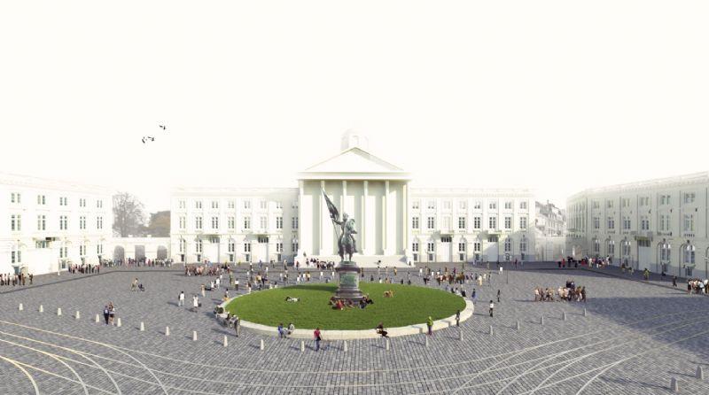 Studieopdracht Koningsplein Brussel voor Grontmij, West 8 en Cerau