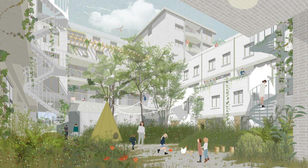 BULK architecten en General Architecture ontwerpen gezinsvriendelijk woonproject CADIX A4 op het Eilandje